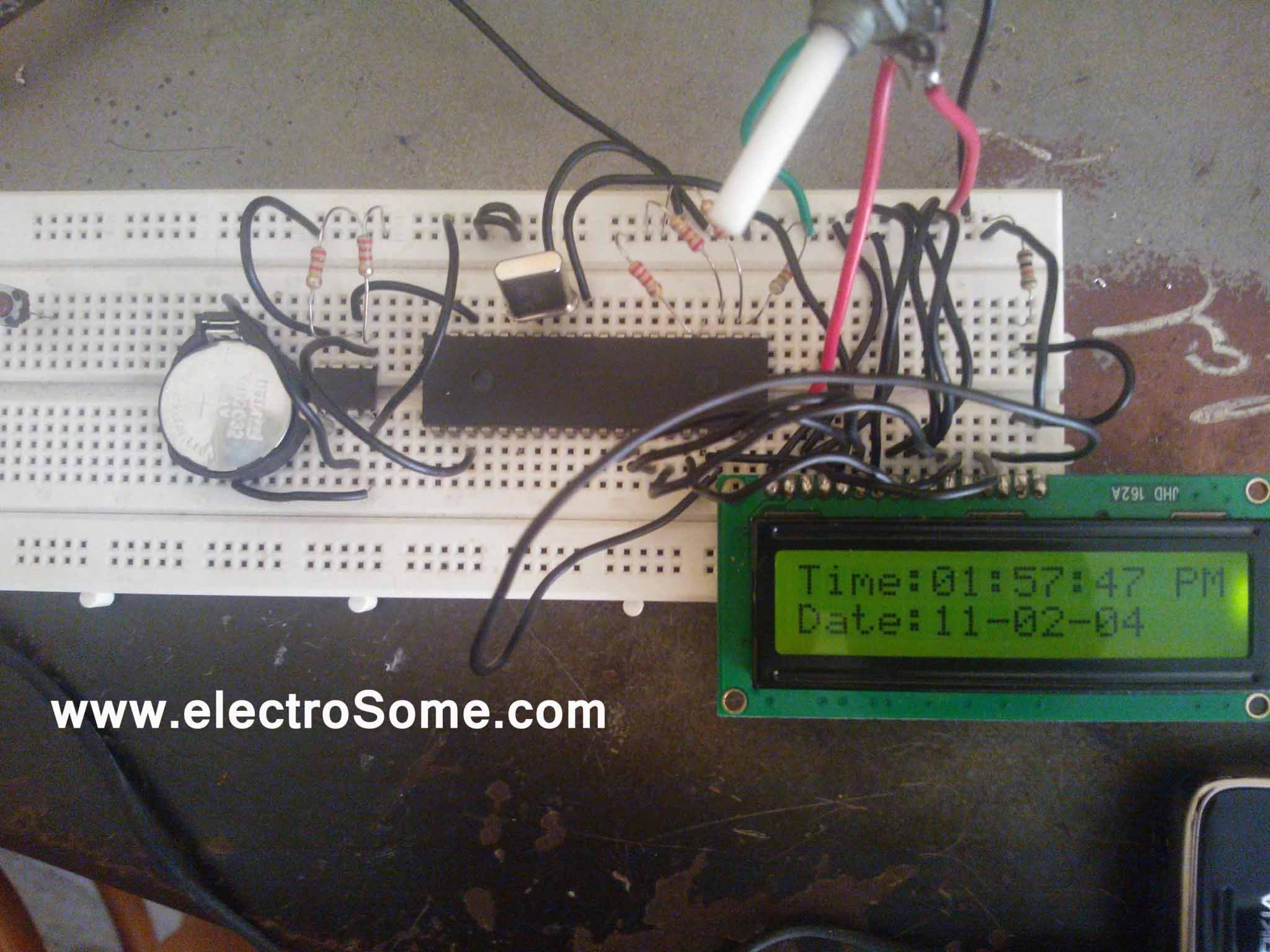 Digital Clock Using Pic Microcontroller And Ds1307 Rtc Timer Circuit Timing Electronic Tutorial