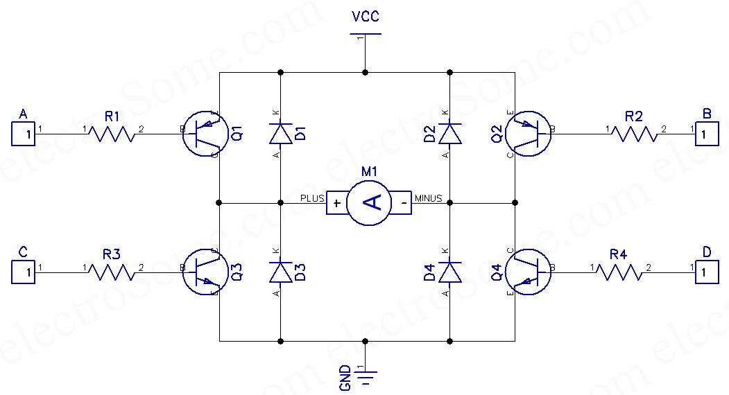 h bridge circuit diagram ztt kickernight de \u2022dc motor driving using h bridge rh electrosome com h bridge circuit diagram dc motor h