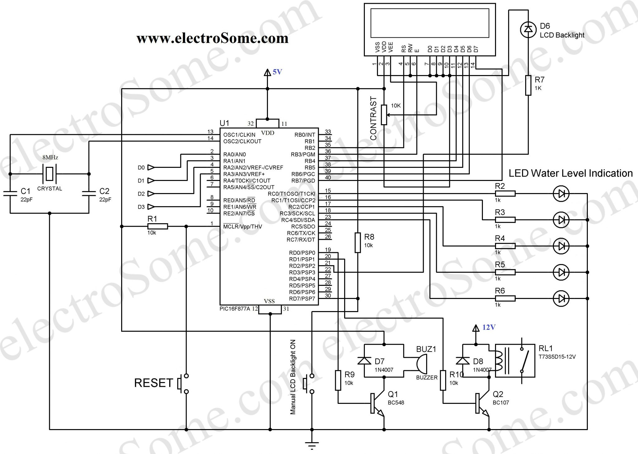 Water Level Control Circuit Diagram Using Relays Guide And Irrigation Wiring Get Free Image About Pump Relay Motor Plc