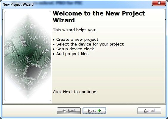 Welcome - New Project Wizard