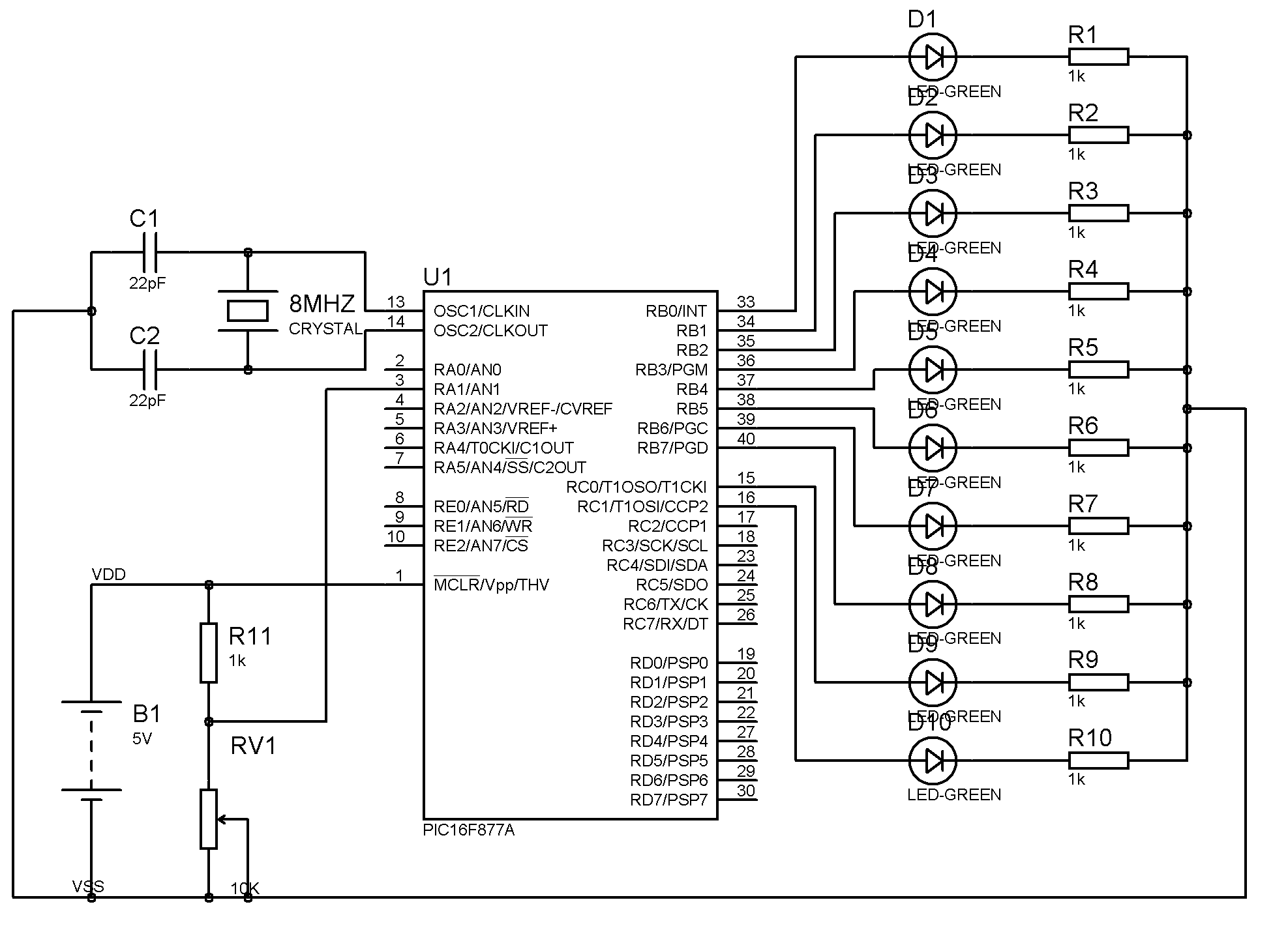 block diagram of 16f877a