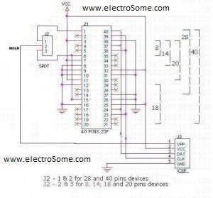 USB PIC Programmer PICKit2 Icsp Pickit Schematic Diagram on