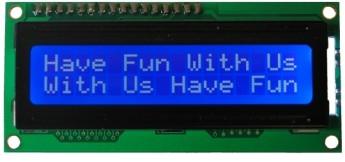 LCD 16*2 Alphanumeric