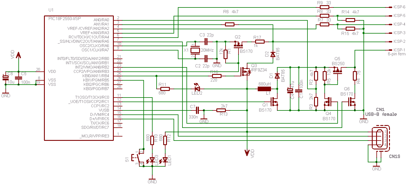 Usb Pic Programmer Pickit2 Mini B Wiring Diagram Modified Circuit