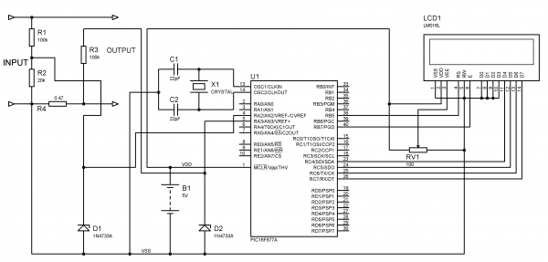 voltmeter and ammeter using pic microcontroller