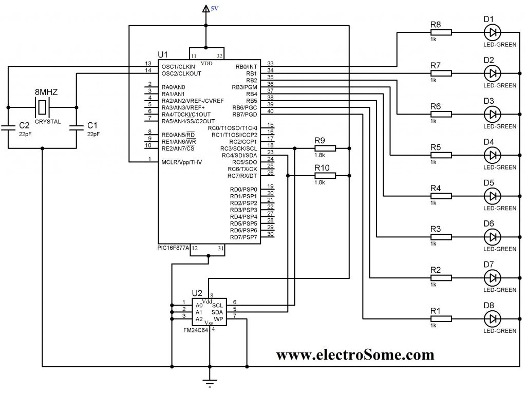 Interfacing EEPROM with PIC MicrocontrollerWhat is an EEPROM ?Pin Descriptions of 24C64 EEPROM Device Addressing