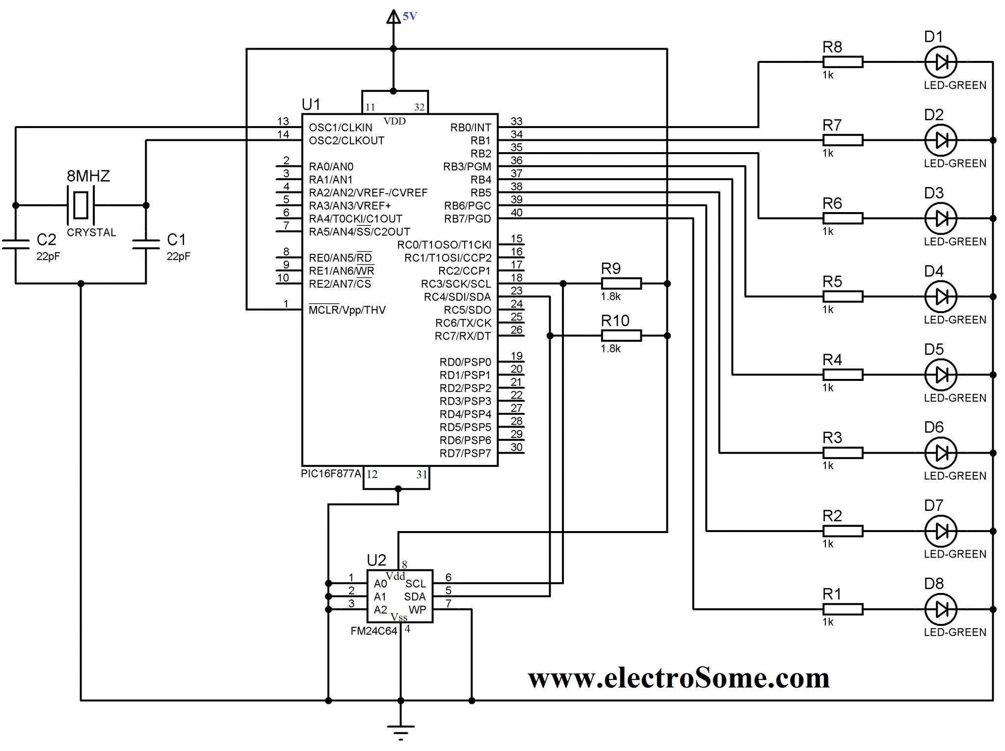Interfacing EEPROM with PIC Microcontroller - MikroC