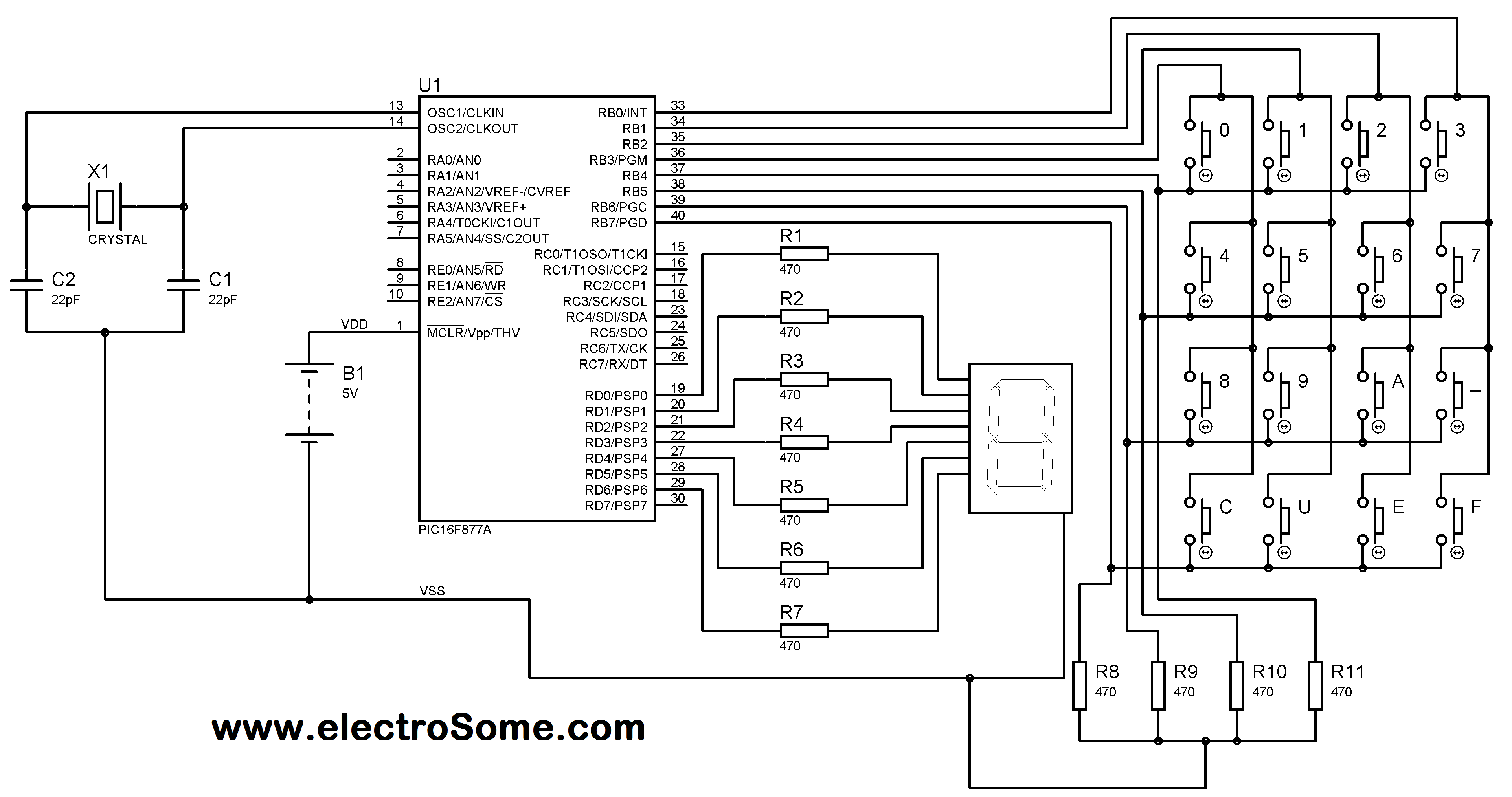 Matrix Keypad interfacing with PIC MIcrocontroller