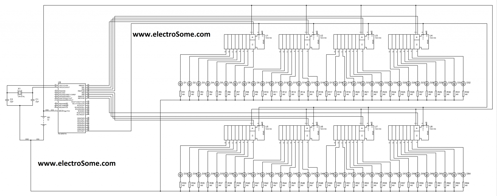 Expanding Output Pins Of Pic Microcontroller By Multiplexing Mikroc Logic Diagram Multiplexer Circuit A Through Alternate Method