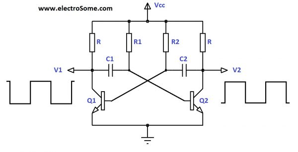 astable multivibrator using transistorsMonostable Multivibrator Circuit Diagram Oscillatorcircuit Signal #12