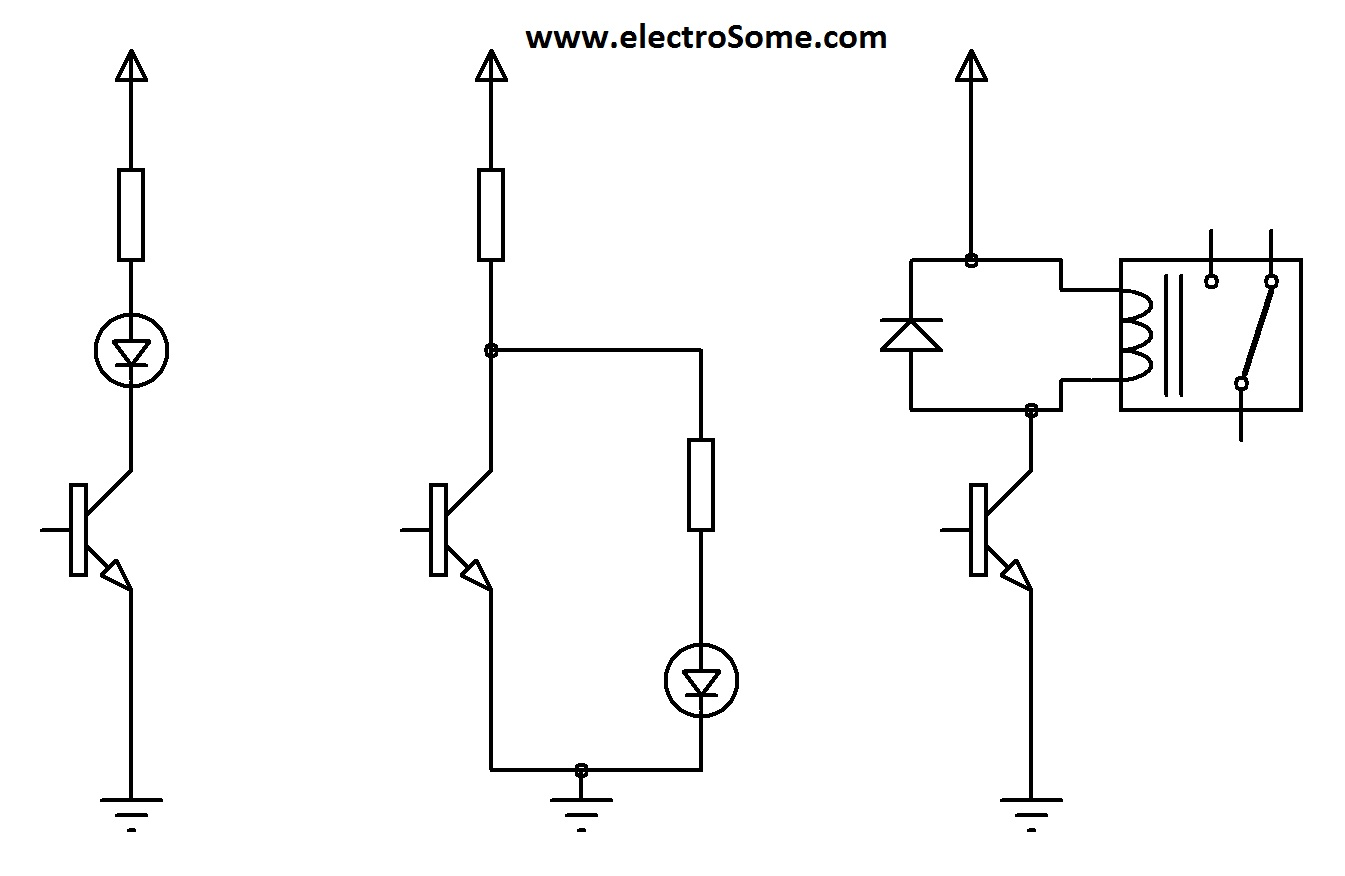 Transistor As A Switch Flashing Leds Is To Use Single Or An Inverter Circuit Different Ways Of Connecting Loads
