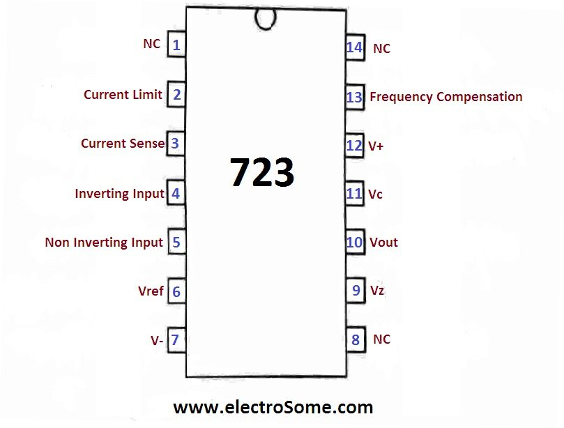 723 Voltage Regulator Pin Diagram