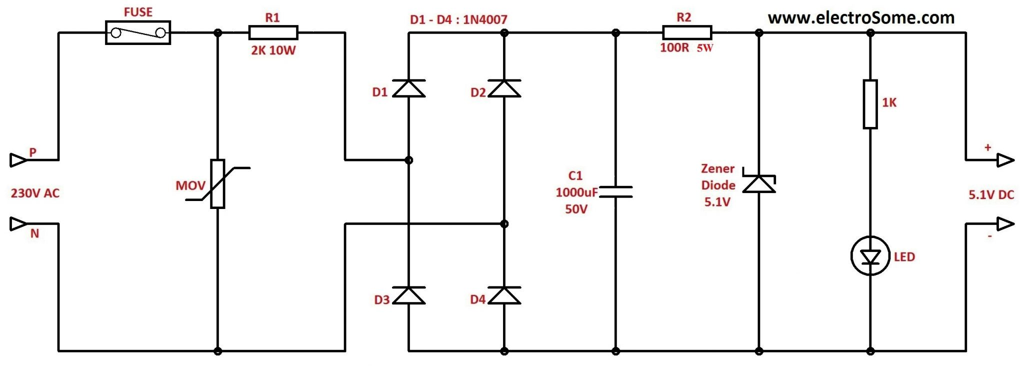 Resistive Transformer Less Power Supply Circuit Diagram transformerless power supply  at virtualis.co