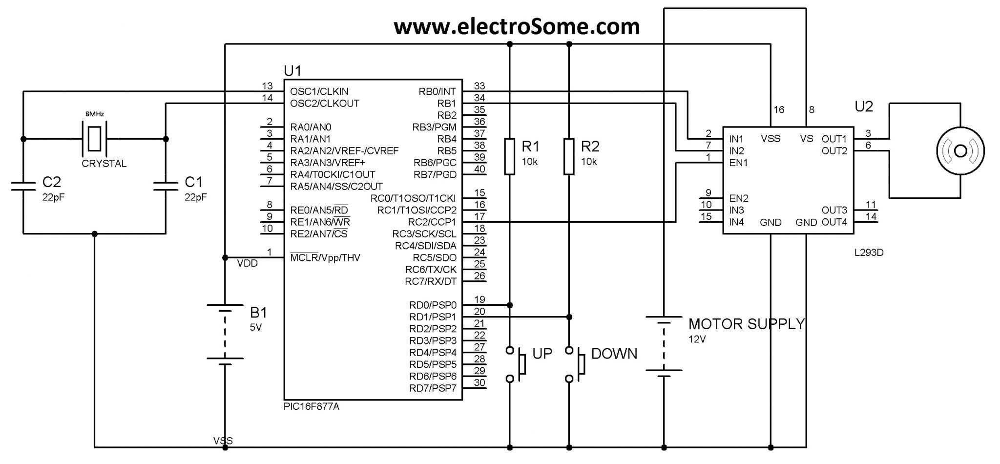 Dc Motor Speed Controller Circuit Using Pwm Ask Answer Wiring Control Circuits Projects With Pic Microcontroller Mikroc Rh Electrosome Com
