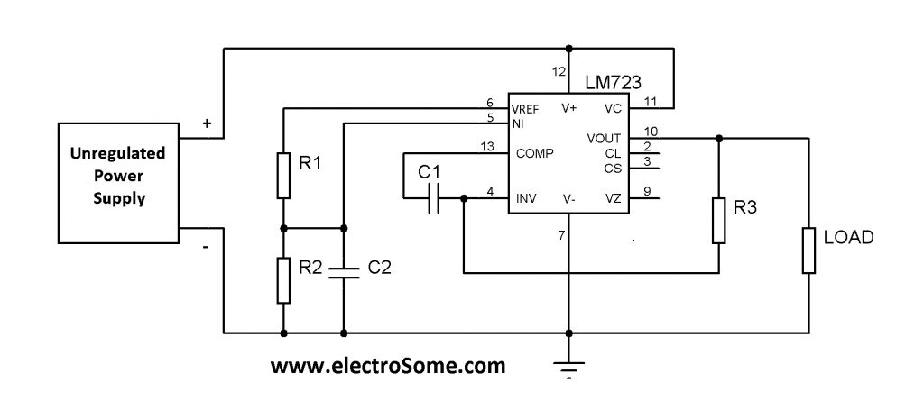Low Voltage Regulator using IC LM723
