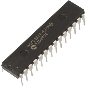 Expanding IO Ports of PIC Microcontroller using MCP23S17