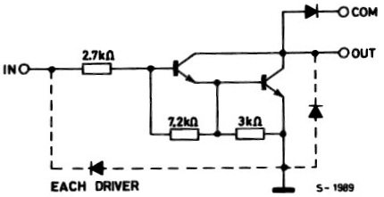 Schematic Diagram of each Darlington Pair - ULN2003