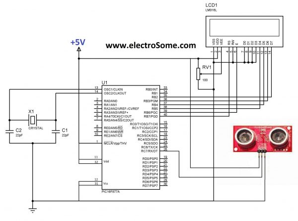 Interfacing Ultrasonic Sensors with PIC Microcontroller