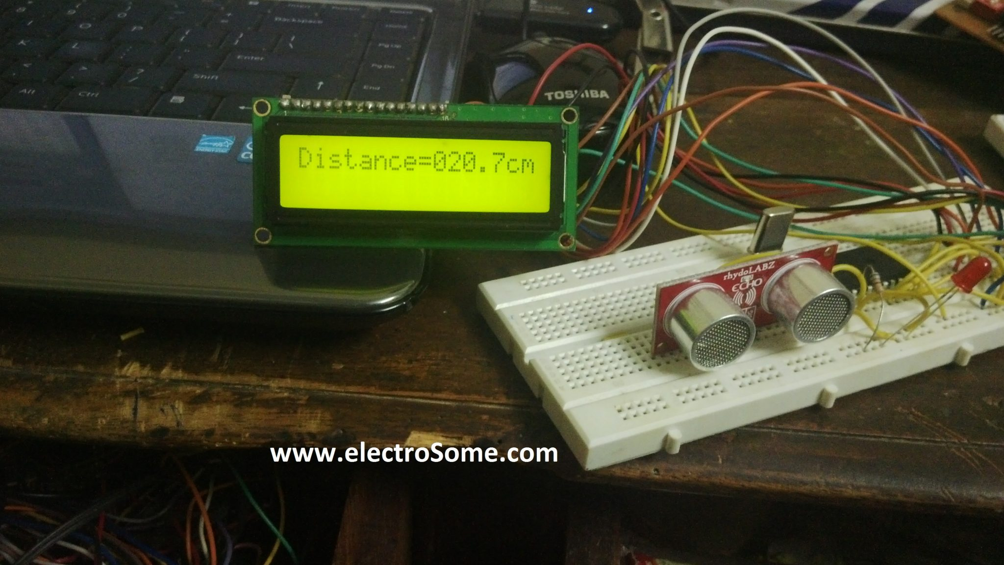 interfacing ultrasonic distance sensor ascii with pic microcontroller