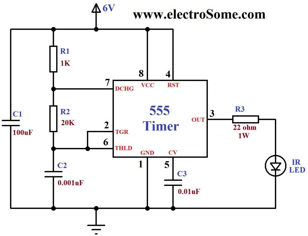 Ir Remote Control Home Appliances on encoder circuit diagram