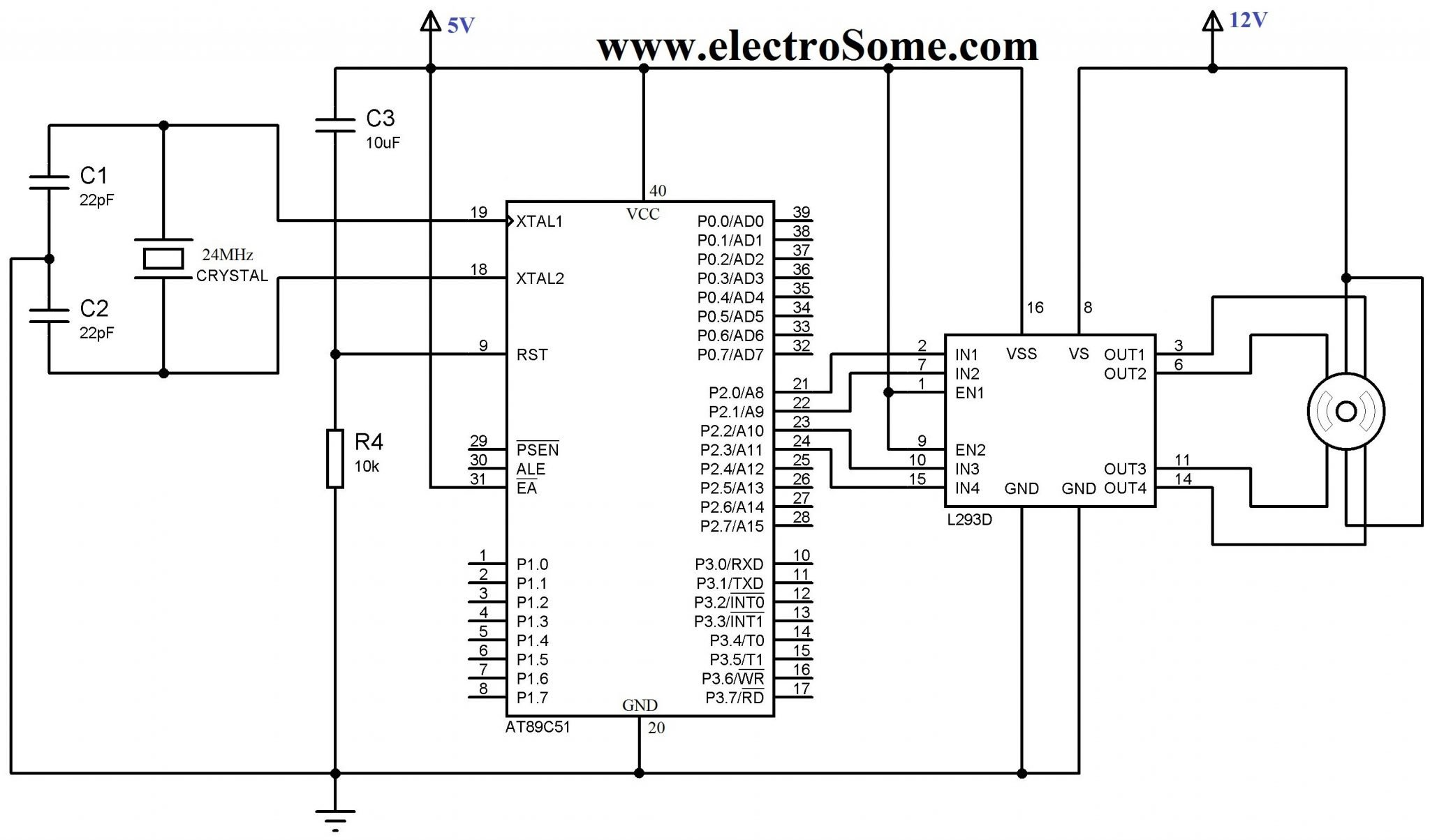 interfacing stepper motor with 8051 using keil c