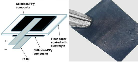 Organic Paper Battery