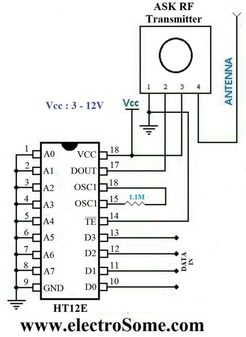 Wireless Transmitter Receiver Circuit Diagram Engine Control Crystal Oscillator Sensorcircuit Seekic And Using Ask Rf Module Rh Tuicool Com Pdf Power