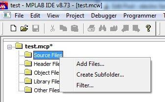 Adding Program C file to Source Group