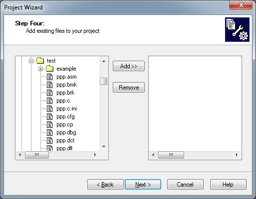 MPLAB - Adding files to Project