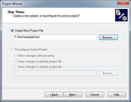 MPLAB - Giving Project path and File name