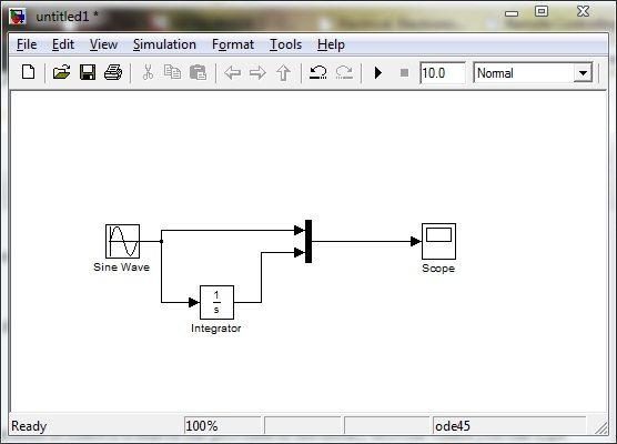 Sine Wave Integrator Model