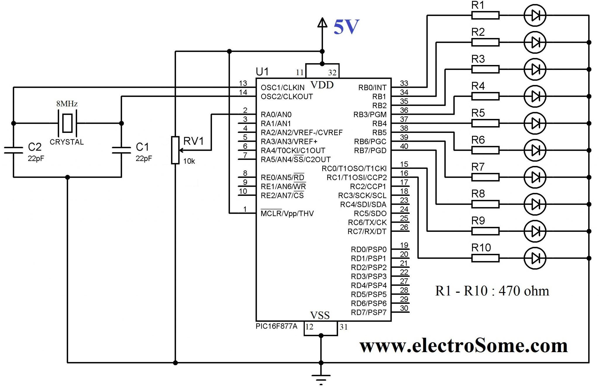 using internal adc module of pic microcontroller