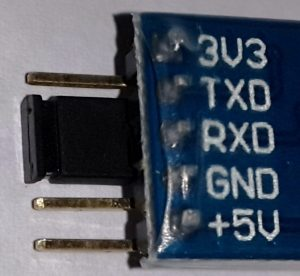 Shorting TX and RX of USB to UART Converter