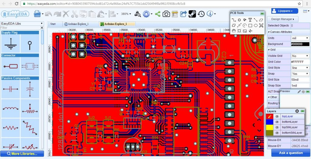 EasyEDA PCB Layout