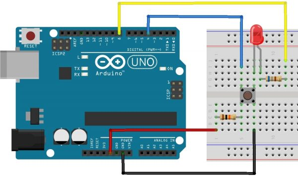 Using Switch with Arduino Uno External PULL-UP