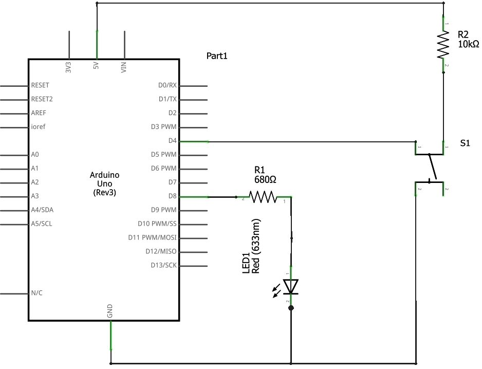 using push button switch with arduino uno rh electrosome com arduino wiring diagram online arduino lcd wiring diagram