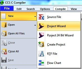 Opening New Project Wizard