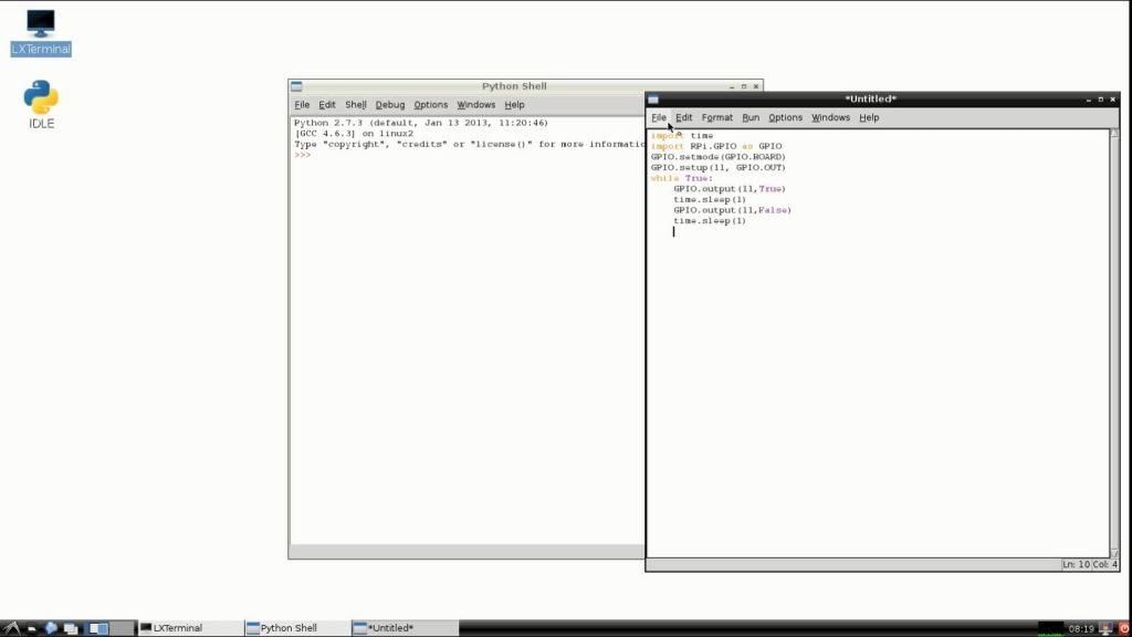 RaspberryPi idle code