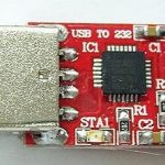 CP2102 USB to TTL module side