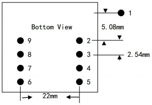 EM-18 RFID Reader Module - Bottom View