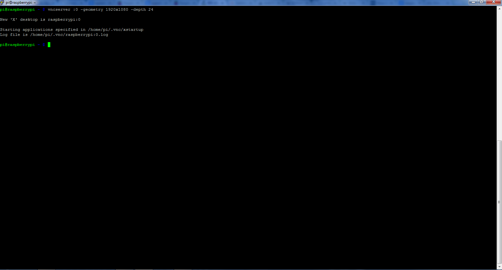 Using Raspberry Pi without Display, Keyboard and Mouse VNC