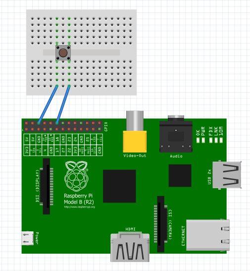 Circuit diagram button press