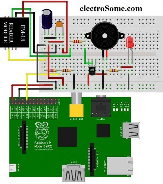 RFID reader em18 atmega 64 - YouTube