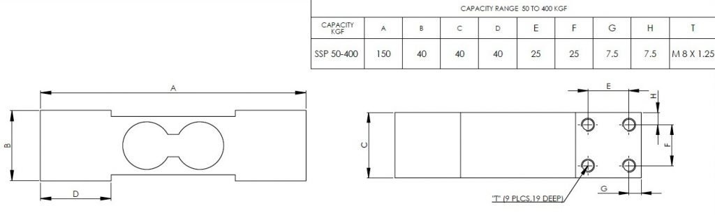 Single Point Load Cell Small Dimensions