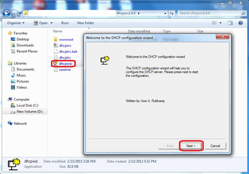 WIndows DHCP server setup