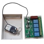 4 Channel RF Remote Relay - Home Automation