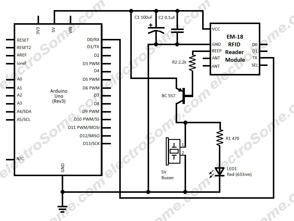 interfacing em 18 rfid reader module arduino uno interfacing em 18 rfid reader module arduino circuit diagram