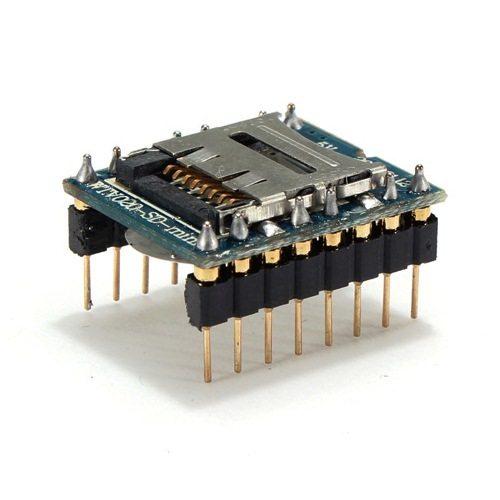 WTV020-SD-16P Micro SD Card MP3 Module