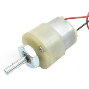 Geared DC Motor White 6MM