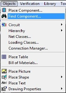 Find Component Tool - DipTrace